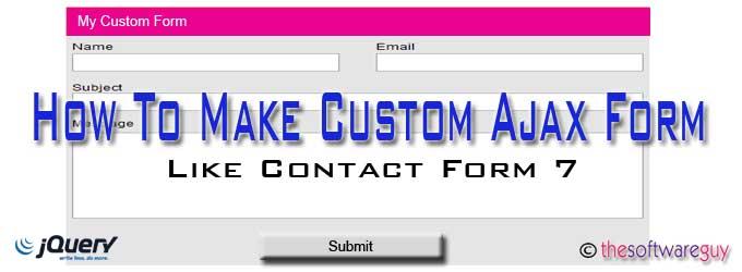 create custom contact form