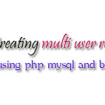 Creating multi user role based admin using php mysql and bootstrap