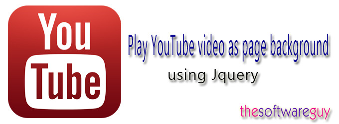 Play YouTube video as page background using Jquery