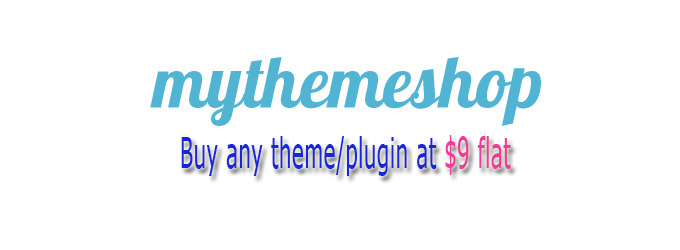 Buy any Themes Plugin from Mythemeshop at 9 dollars flat